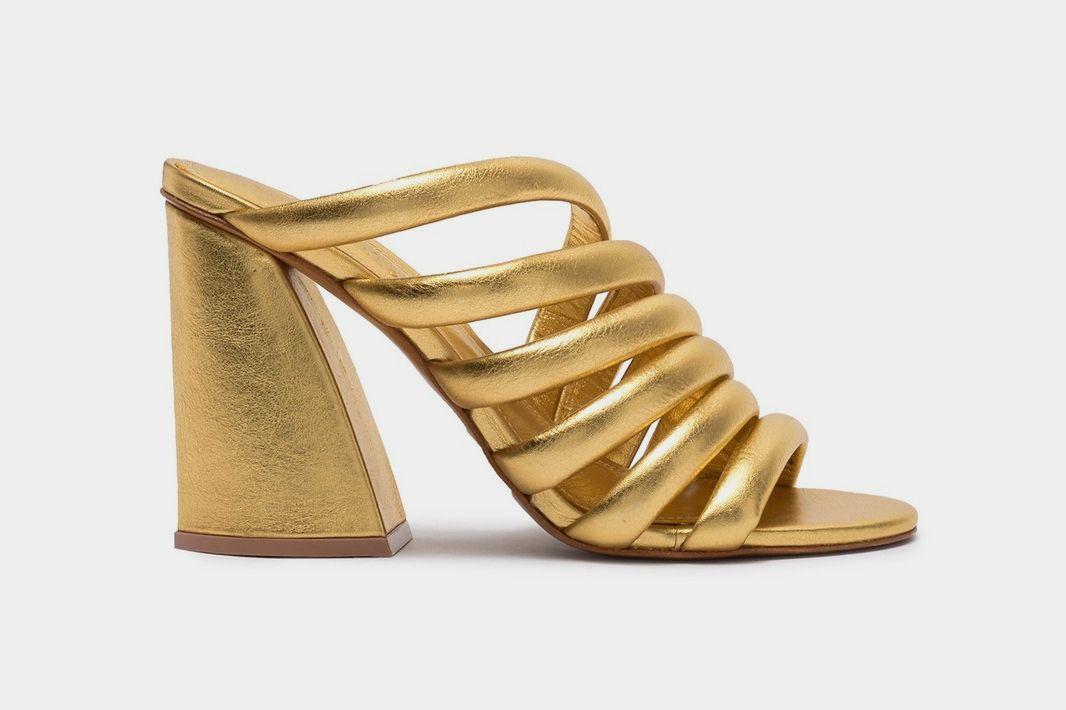 Mercedes Castillo Izzie Leather Block Heel Sandal