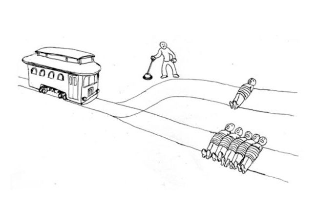 Image result for trolley problem