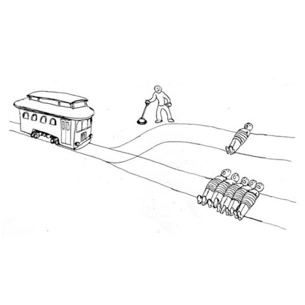 Bildresultat för trolley problem