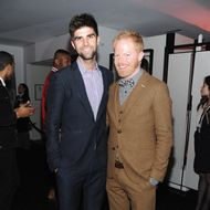 NEW YORK, NY - NOVEMBER 21: Jesse Tyler Ferguson (R) and Justin Mikita attends the Barneys New York Celebration Launch of Gaga's Workshop at Barneys New York on November 21, 2011 in New York City.  (Photo by Jamie McCarthy/Getty Images for Barneys New York)