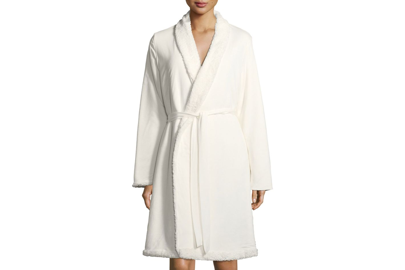 Alpine Chic Shearling-Trim Robe