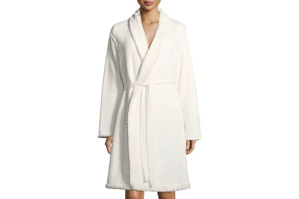 Alpine Chic Shearling-Trim Robe