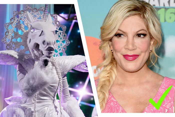 Confirmed: The Unicorn is Tori Spelling!