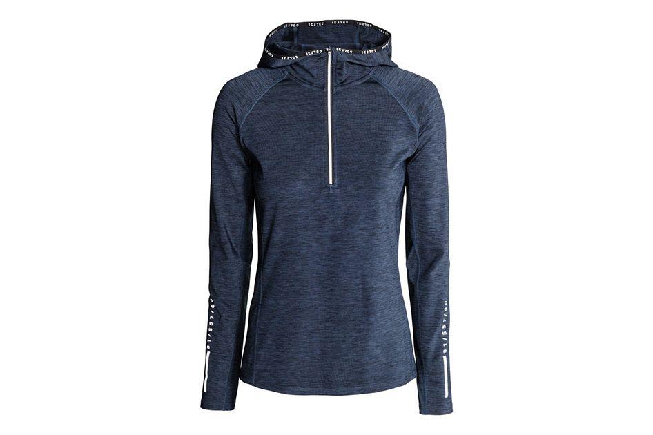 H&M hooded winter running top