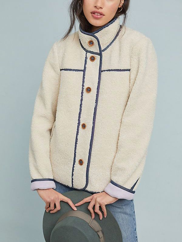 Piped Sherpa Jacket