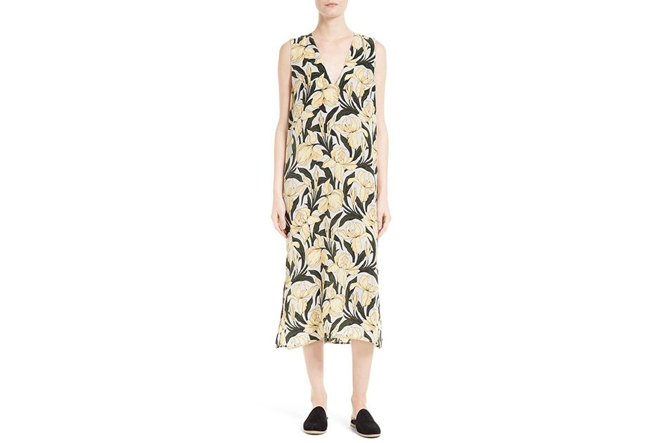Equipment Connery Print Silk Midi Dress