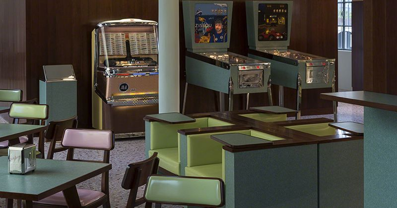 wes anderson designed a caf u00e9 that looks like something straight out of his movies