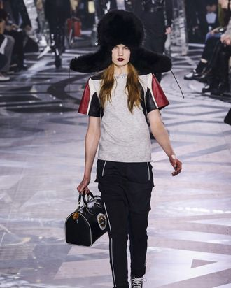 5f1a6d2a7b54cc This Louis Vuitton Trapper Hat Is Taking Over Fashion Shoots. By Véronique  Hyland. Louis Vuitton fall 2016.