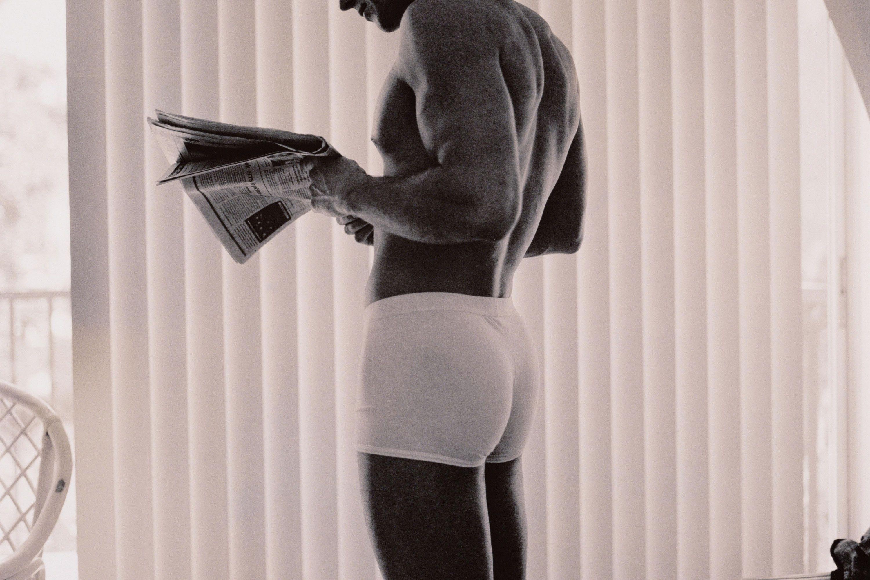 High Elastic Mens Boxer Brief Coffee Logo Cotton Soft Underwear Snug