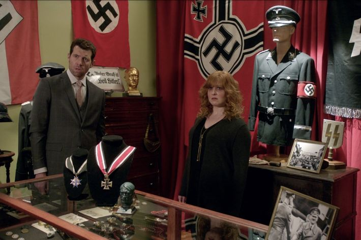 Billy Eichner as Billy, Julie Klausner as Julie.