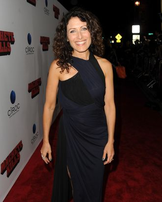LOS ANGELES, CA - OCTOBER 02: Actress Lisa Edelstein arrives at the premiere of Open Road Films'
