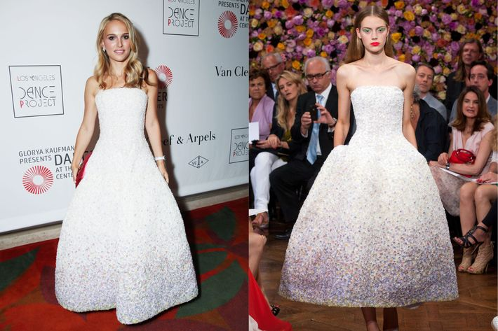 Natalie's Dior couture dress.