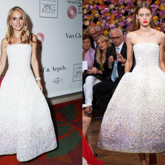 Natalie's Dior couture dress.