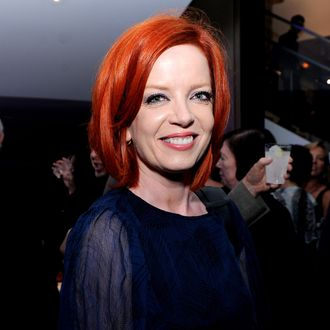 BEVERLY HILLS, CA - OCTOBER 28: Singer Shirley Manson of Garbage poses at the after party for the premiere of Focus Features'