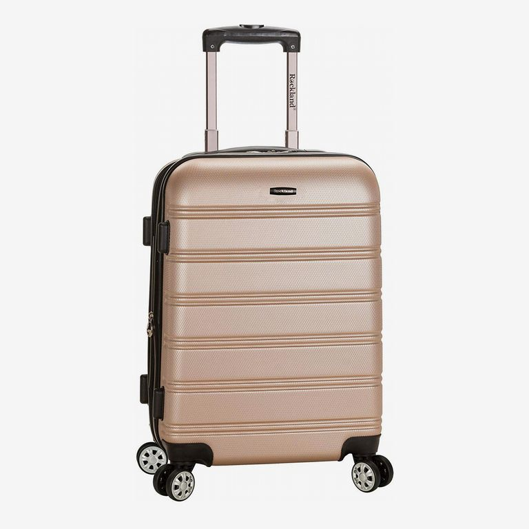 Rockland Luggage Melbourne 20 Inch Expandable Carry-On, Champagne, One Size