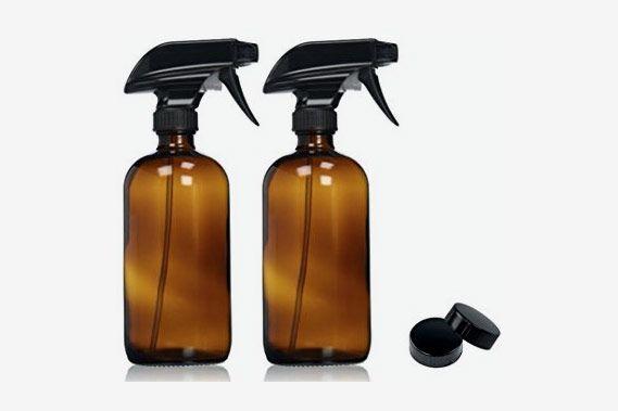 Empty Amber Glass Spray Bottles