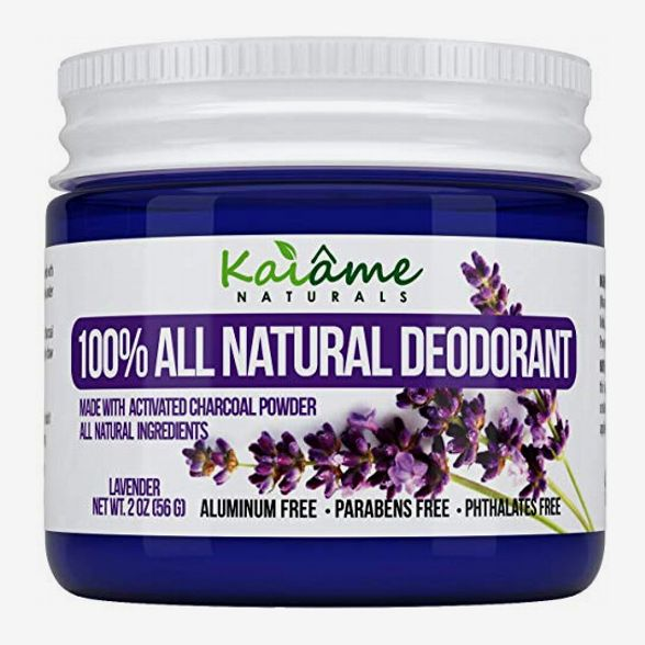Kaiame Naturals Best Natural Deodorant (Lavender) with Activated Charcoal Powder