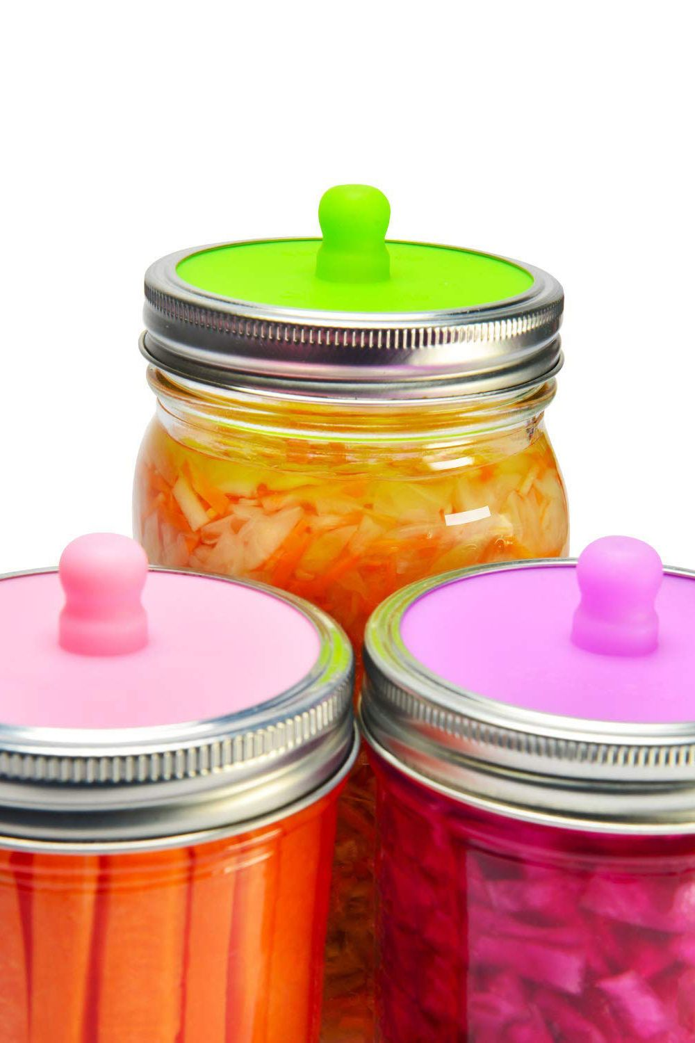 Fermentation Lids for Wide-Mouth Mason Jars