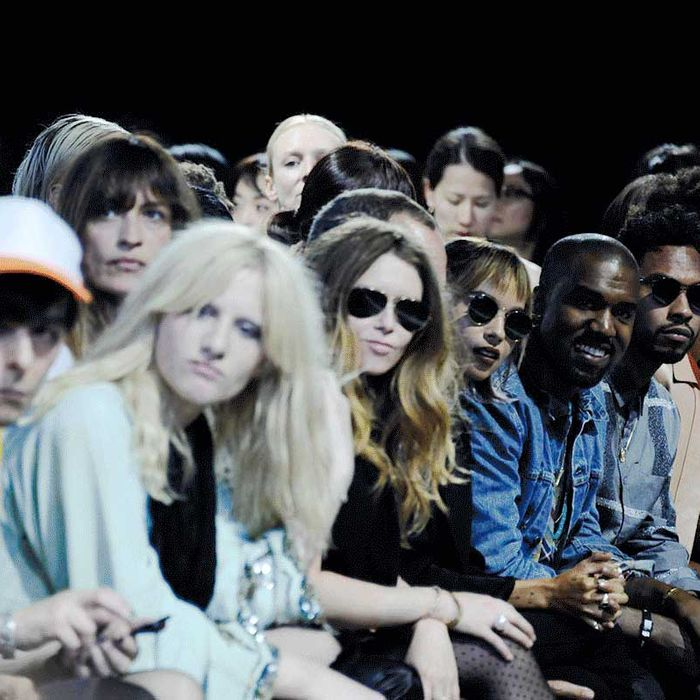 Front row at Alexander Wang.