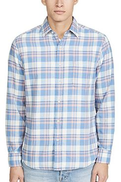 Faherty long sleeve everyday shirt, sunrise plaid
