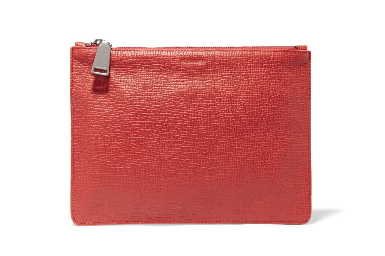 Jil Sander Red Clutch