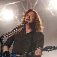CHICAGO, IL - FEBRUARY 10: Dave Mustaine of Megadeth performs at the Aragon Ballroom on February 10, 2012 in Chicago, Illinois. (Photo by Daniel Boczarski/Getty Images)