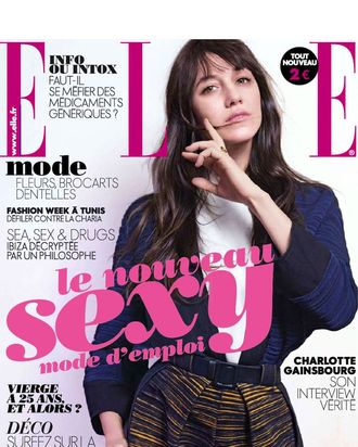 Charlotte Gainsbourg for French <em>Elle</em>.