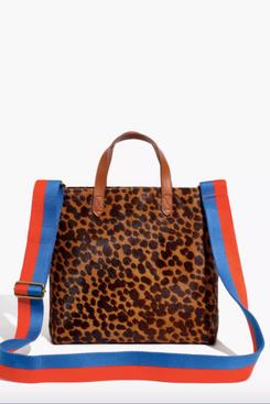 Madewell x Kule Leopard Calf Hair Zip-Top Transport Crossbody