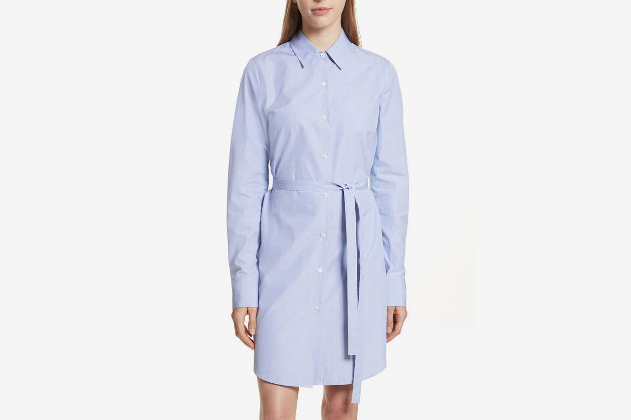 THEORY Crowley Cotton Shirtdress