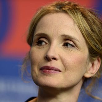 US French actress Julie Delpy attends a press conference for the film