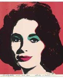 Warhol's portrait of Elizabeth Taylor sold for $662,000.