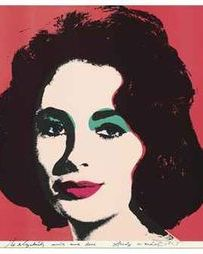 Warhol's portrait of Elizabeth Taylor sold for $662,000.