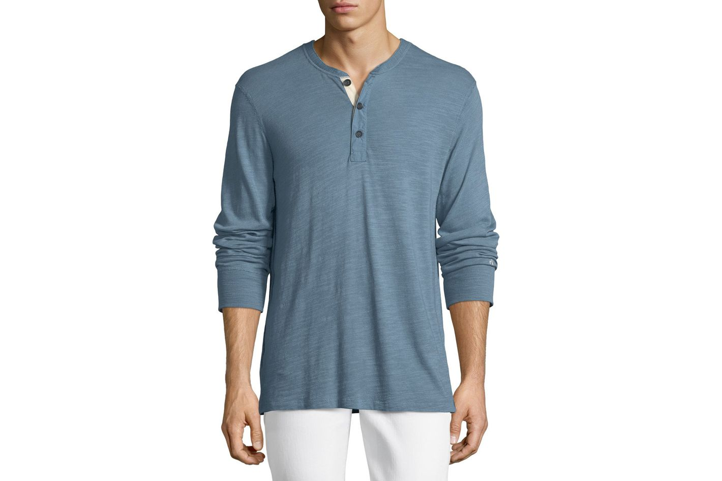 Rag & Bone Standard Issue Long-Sleeve Henley Shirt