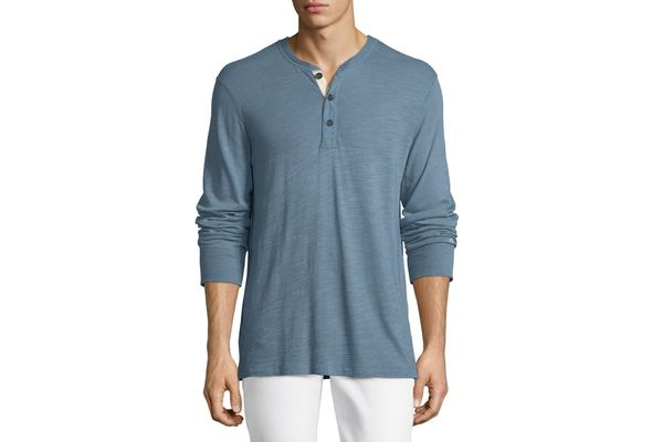 Rag & Bone Standard Issue Long-Sleeve Henley Shirt