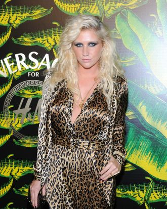 Ke$ha attends the Versace for H&M Fashion event