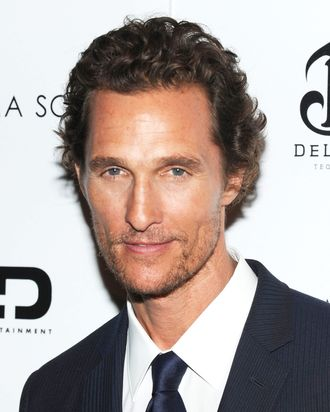NEW YORK - JULY 23: Actor Matthew McConaughey attends The Cinema Society with Bally & DeLeon screening of LD Entertainment's