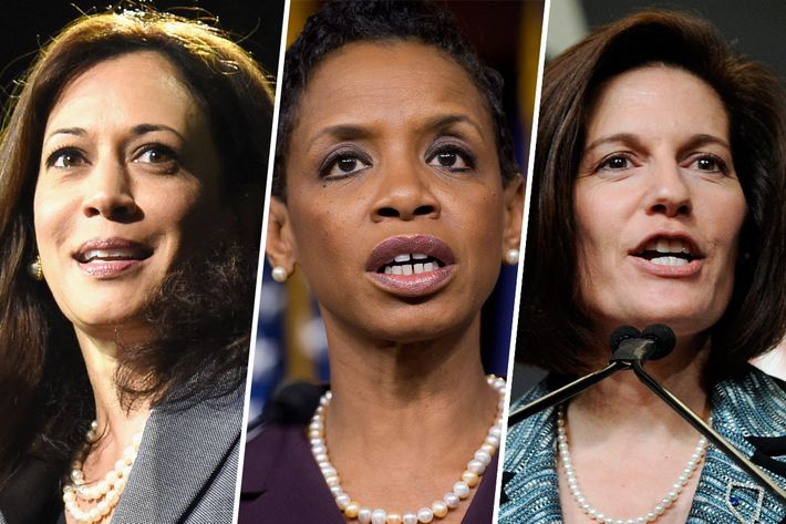 Senate candidates Kamala Harris, Donna Edwards, and Catherine Cortez Masto.