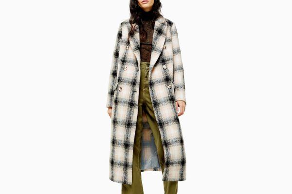Topshop Toni Check Coat