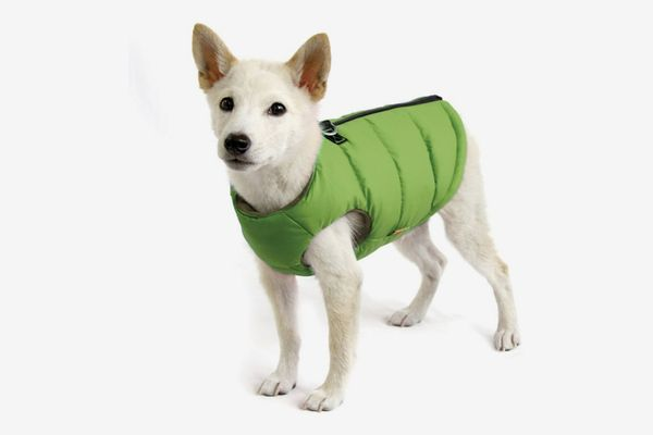 Gooby Padded Cold Weather Vest with Safe Fur Guard Zipper Closure