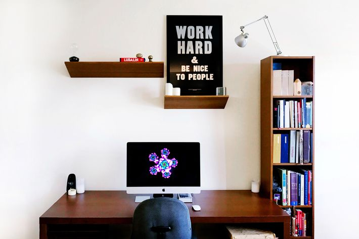 Pagan Has Two Desks, But Prefers Designing Late Into The Night At His  Minimalist Home Office Space.