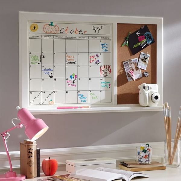 Pottery Barn Teen Dry-Erase Calendar Corkboard