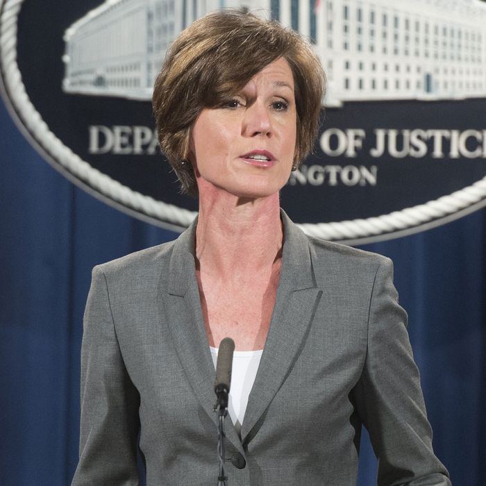 Trump Asked to Vet Sally Yates's Testimony at Russia Hearing