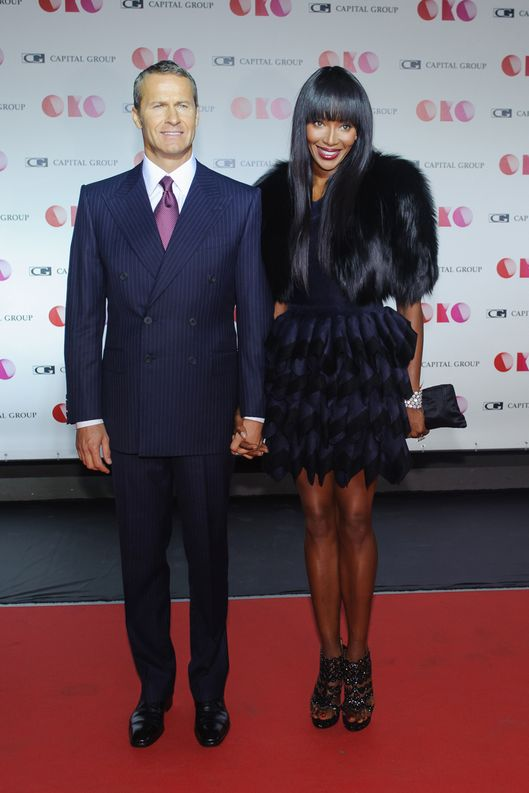 Vladislav Doronin and Naomi Campbell at a gala evening in Moscow, Russia.