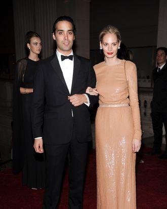 Andres and Lauren Santo Domingo.
