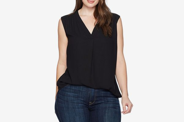 Nine West Women's Plus Size Crepe V Neck