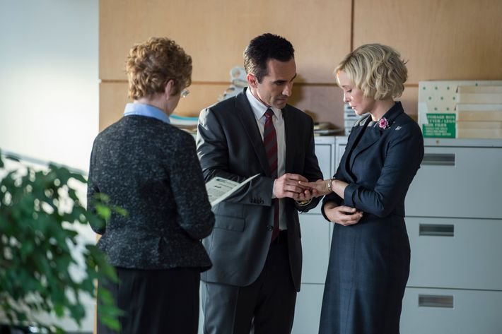 Nestor Carbonell as Alex, Vera Farmiga as Norma.