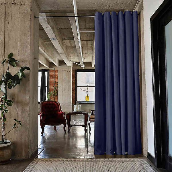 RoomDividersNow Tension Rod Room Divider Kit with Curtain Panel