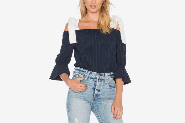 Ganni clark blouse