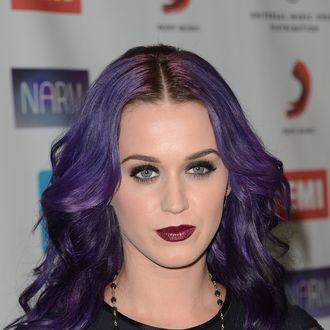 Singer Katy Perry arrives at the NARM Music Biz Awards dinner party held at the Hyatt Regency Century Plaza on May 10, 2012 in Century City, California.