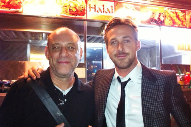 Gosling and the author, last night.